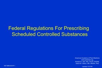 Federal Regulations For Prescribing Scheduled Controlled