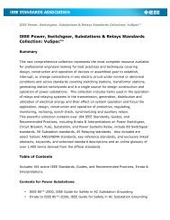 IEEE Power, Switchgear, Substations & Relays Standards Collection ...