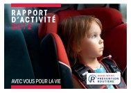 Rapport d'activité 2012 (2,85 MB) - Association Prévention Routière