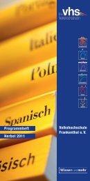 Volkshochschule Frankenthal e. V ... - Stadt Frankenthal