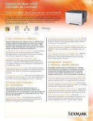 Impresora láser color CS310dn de Lexmark