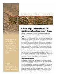 Cereal crops - management Cereal crops - management for ...