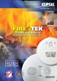 Firetek 755 Series Smoke Alarms, 19771 (2145 KB - Clipsal