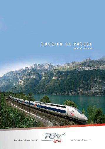DOSSIER DE PRESSE - TGV Lyria
