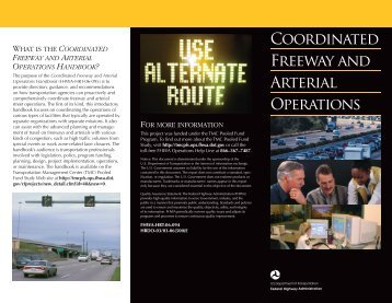 Coordinated Freeway and Arterial Operations - (TMC) Pooled-Fund ...