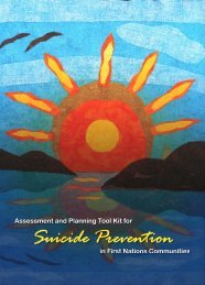 Assessment and Planning Tool Kit for Suicide Prevention in First ...
