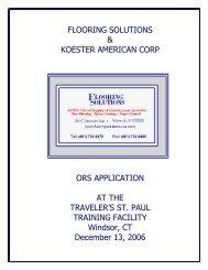 FLOORING SOLUTIONS & KOESTER AMERICAN CORP ORS ...