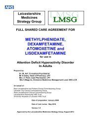 ADHD adults - Leicestershire Medicines Strategy Group