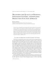 measuring the quality of regional innovation systems: a ... - Urenio