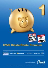 DWS RiesterRente Premium - nachgerechnet.de