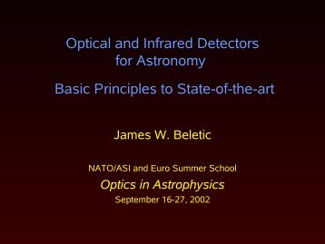 Optical and Infrared Detectors for Astronomy Basic Principles to ...