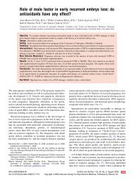 Role of male factor in early recurrent embryo loss ... - Cleveland Clinic