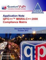 QP/C++ MISRA-C++:2008 Compliance Matrix - Quantum Leaps