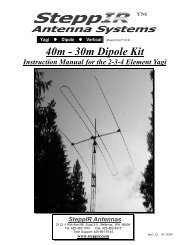 40/30M Dipole Manual - SteppIR