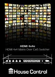 HDMI 4x4e HDMI 4x4 Matrix Over Cat5 Switcher - Reference Audio
