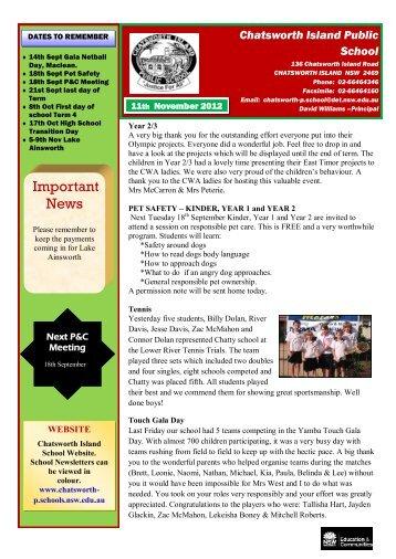 17 11th September 2012 Week 38 [pdf, 1 MB] - Chatsworth Island ...