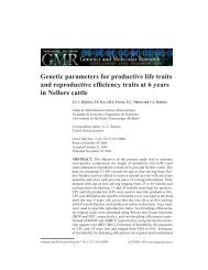 Genetic parameters for productive life traits and ... - Funpec-RP