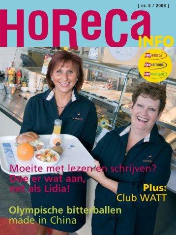 Horeca Info nmr. 5 2008 - FNV Horecabond