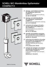 SCHELL WC-Wandeinbau-Spülarmatur COMPACT II - Sami Hert