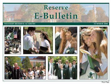 Summer 2008 - Western Reserve Academy