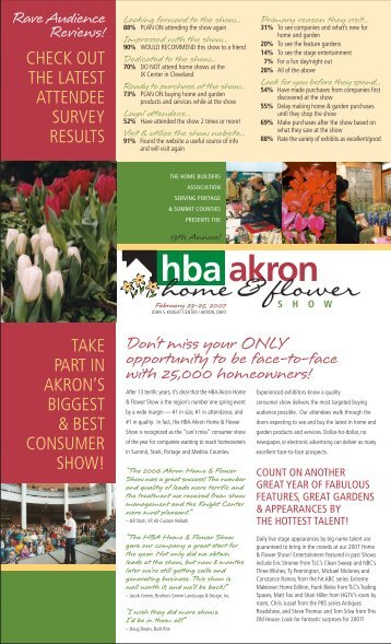 hba akron - Akron Home and Flower Show