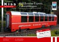 RhB Bernina-Express Panoramawagen - Kiss Modellbahnen