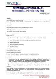 PV 3 - 02 Mars 2013 - Extranet FFVB
