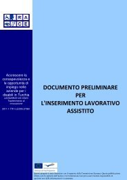 Documento preliminare - Supported employment PWD employment ...