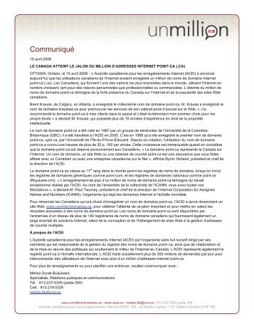 Communiqu] - CIRA