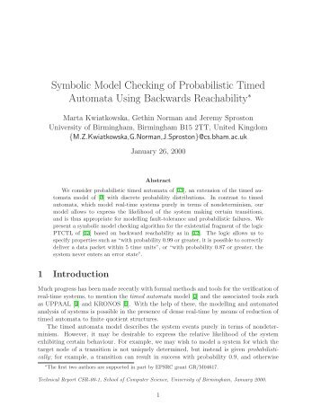 Symbolic Model Checking of Probabilistic Timed Automata Using ...