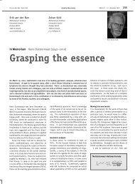 Grasping the essence - Universiteit Utrecht
