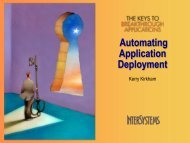 Automating Application Deployment - InterSystems Benelux