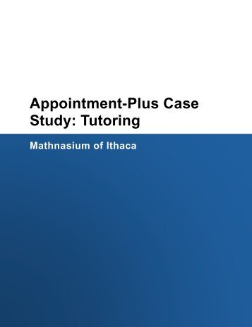 Appointment-Plus Case Study: Tutoring