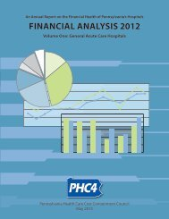 FINANCIAL ANALYSIS 2012 - Pennsylvania Health Care Cost ...