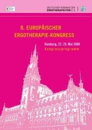 deutsch - COTEC - 8. Europäischer Ergotherapie-Kongress - DVE ...