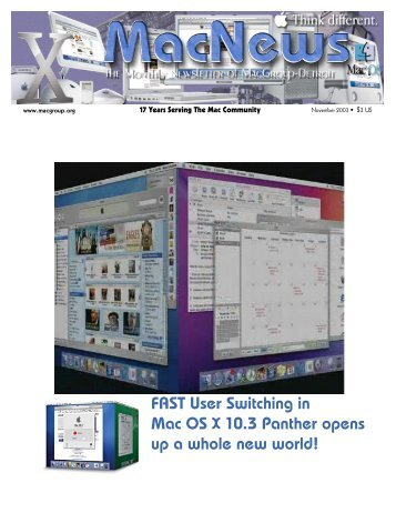FAST User Switching in Mac OS X 10.3 Panther ... - MacGroup-Detroit