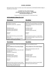 SCHOOL UNIFORM ACG Strathallan College (Yrs 7-12)