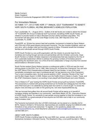 2012 Press Release - Blacktie South Florida
