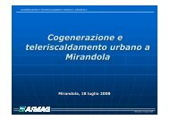 cogenerazione e teleriscaldamento - Comune di Mirandola