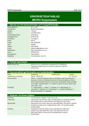 Säkerhetsdatablad (MSDS) (340 KB - pdf) - Jula