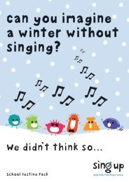 Can you imagine a winter without singing? - Sing Up