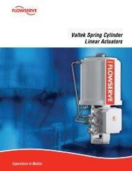 Valtek Spring Cylinder Linear Actuators - Flowserve Corporation
