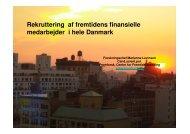Rekruttering af fremtidens finansielle medarbejdere
