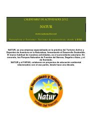 CALENDARIO DE ACTIVIDADES 2012 - Fapas