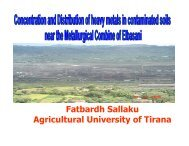 F. Sallaku - Plant Nutrition Group