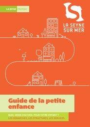 Guide de la petite enfance - La Seyne-sur-Mer