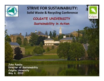 Colgate University - Home for the New York Federation of Solid ...