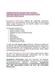 ENERGETISCHE PSYCHOLOGIE IN KÖLN ... - Rothen
