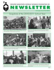 Fall 2011 Newsletter - Greater Saskatoon Catholic Schools