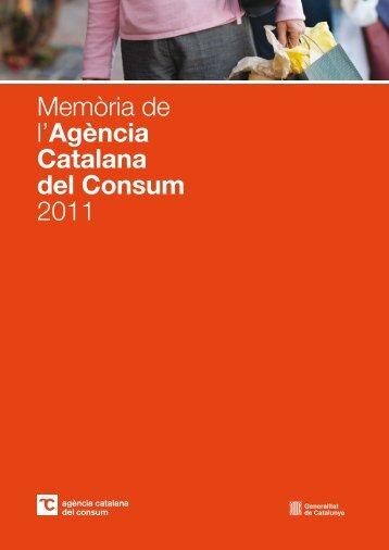 Memòria de l'Agència Catalana del Consum 2011